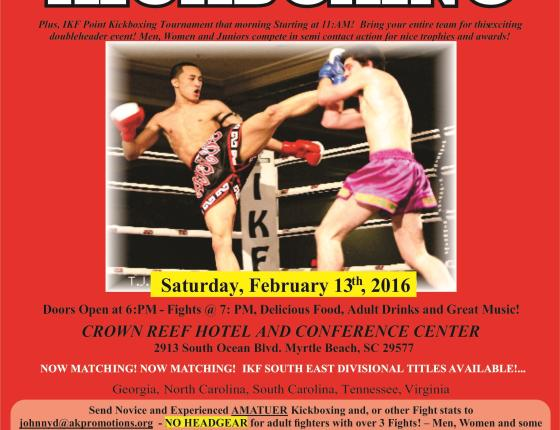 Grand Strand Fight Nights - IKF Championship Kickboxing!