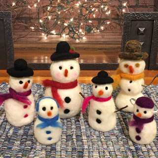 Craft Demonstration: Needle-Felting Fall Pumpkins & Snowmen