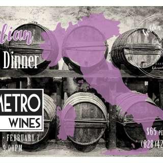 Italian Wine Dinner with Metro Wines
