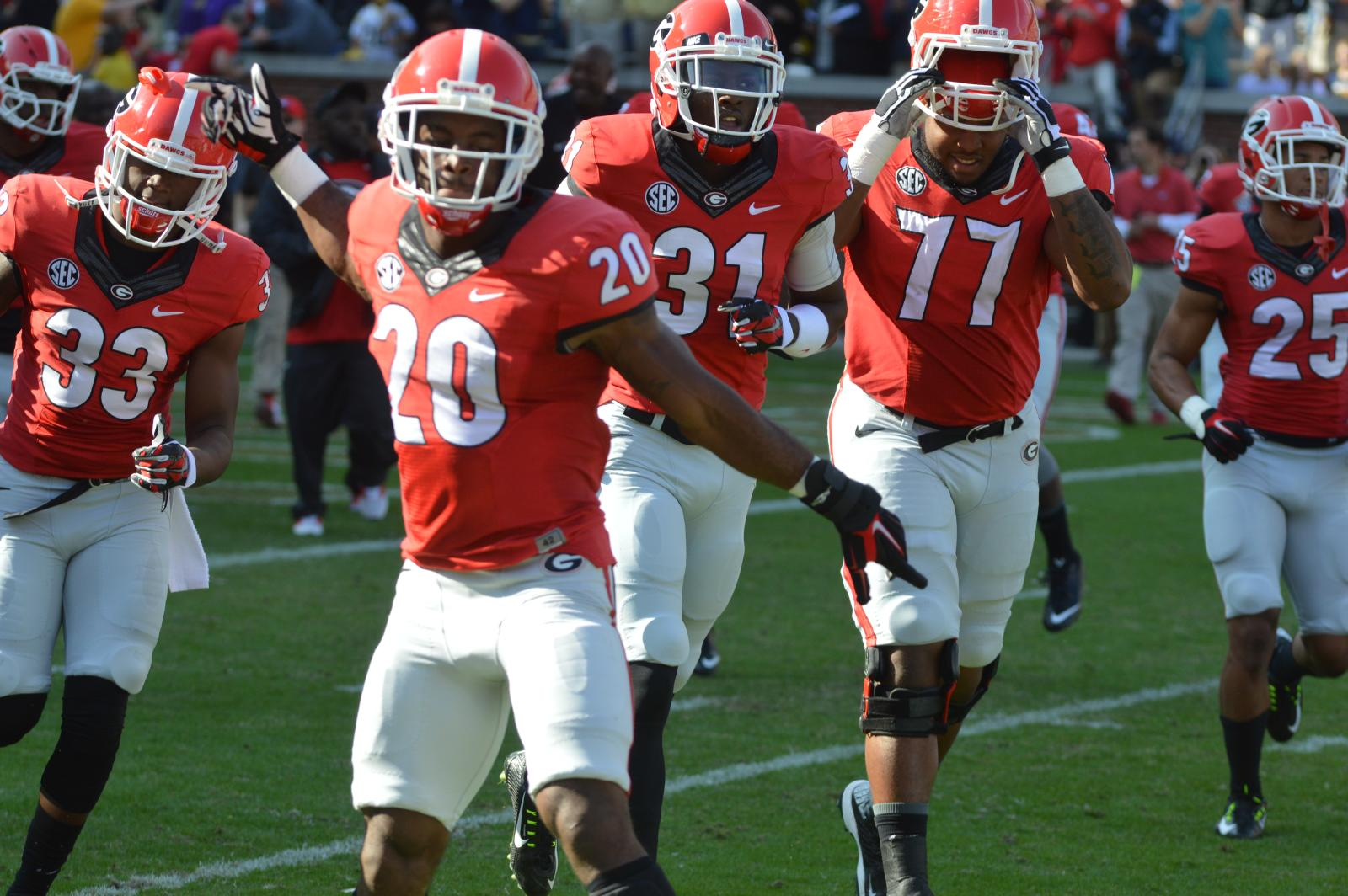 UGA football group rush
