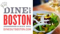 Dine Out Boston logo and salad