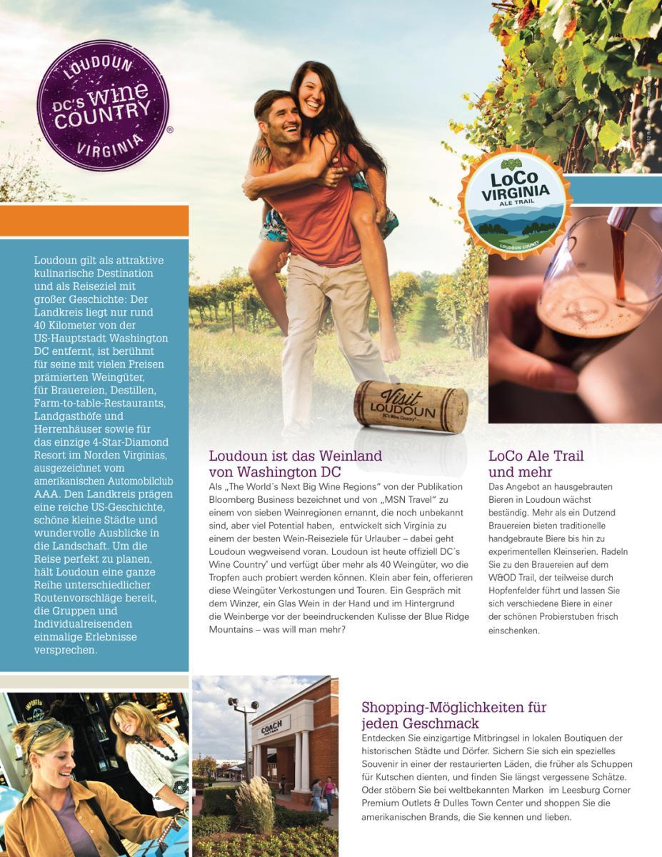 Visit Loudoun German Profile Sheet