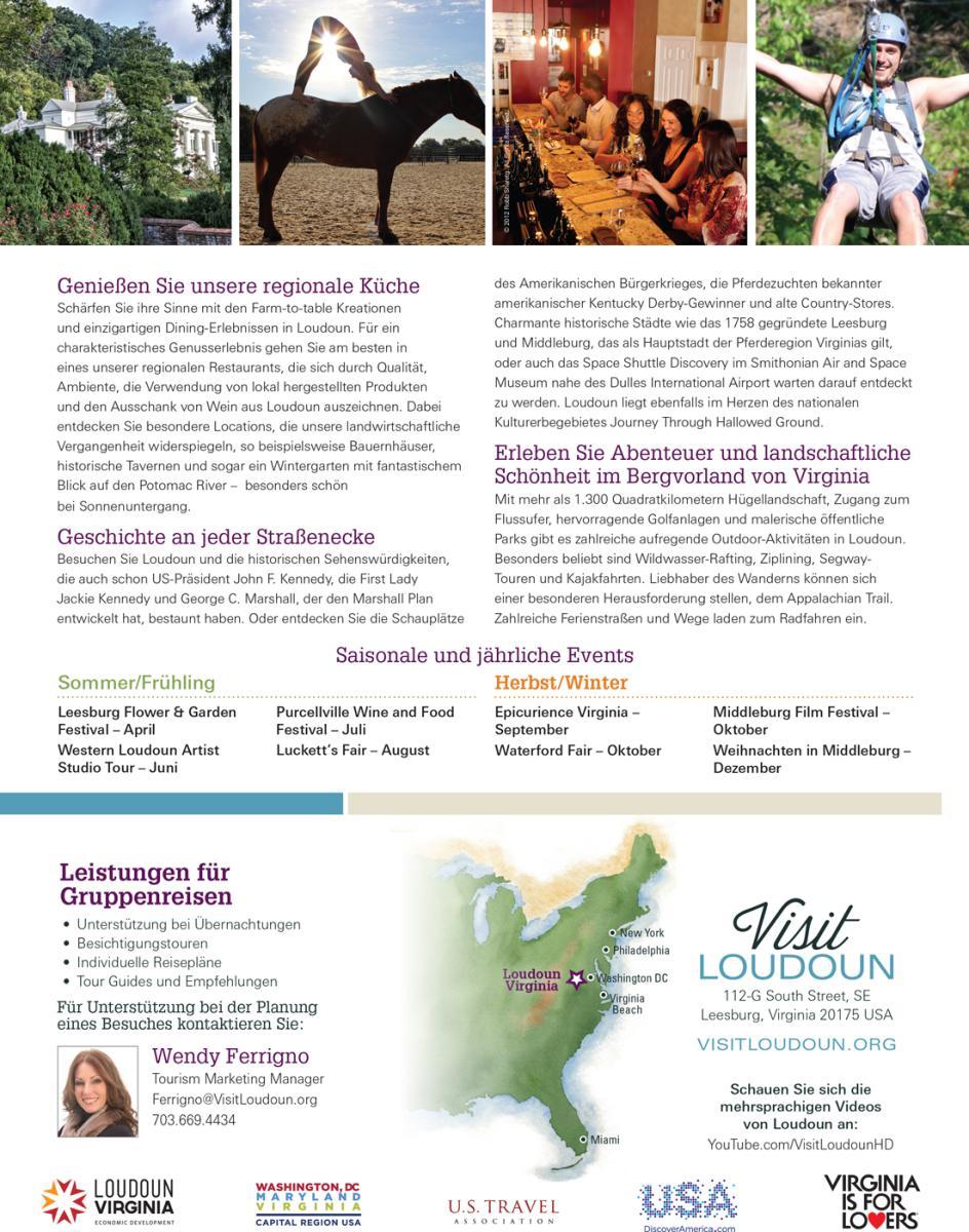 Visit Loudoun German Profile Sheet Back