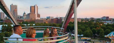 Family in Ferris Wheel at Three Rivers Festival