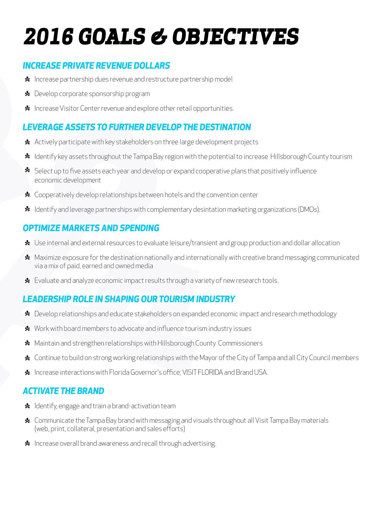 2016 Goals & Objectives