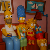 Simpsons Family at Springfield Museum