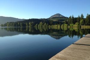 The calm on Dexter Lake before the dragon boat storm (All photos by Kayla Krempley)