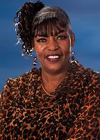 Carol Jones Blue Background