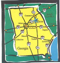 Athens Georgia Regional Map