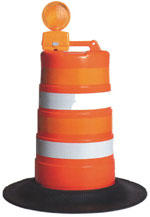 Orange Traffic Barrel