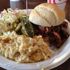 Try some BBQ at Lonnie Q