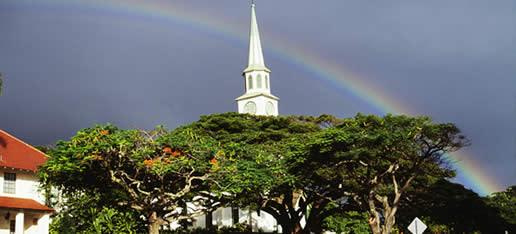 Rainbow over Wailuku, Maui