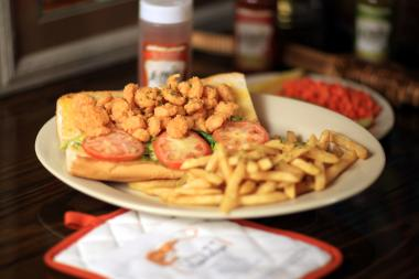 LeBleu's Landing Fried Shrimp Poboy