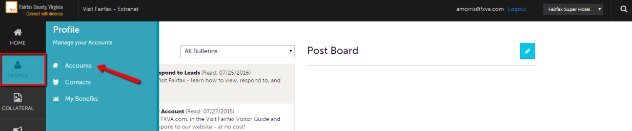Extranet Guides - Manage Account 2