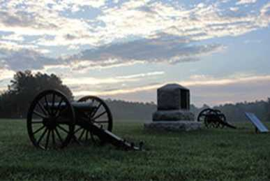 Dusk with cannons