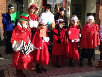 Christmas on the Square caroling
