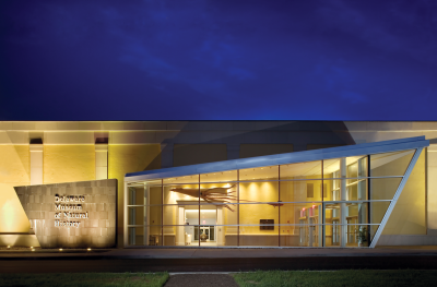 Delaware Museum of Natural History, Exterior, Night