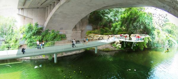 Rendering of the Trail Bridge at Congress