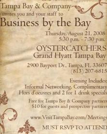 Tampa Bay Area Events: Grand Hyatt Tampa Bay