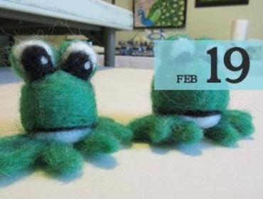 Needle Felting: Frogs