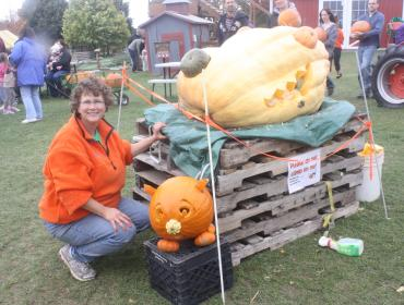 Giant Pumpkin Carving at Wickham Farms