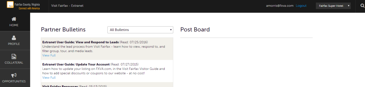 Extranet Guide - Manage Account 1