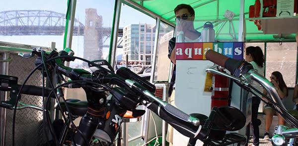 Bikes on the Aquabus