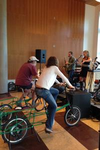 Pedal Power Music keeps the music going at the Opening Reception