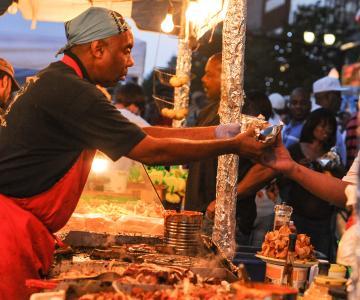 Food Vendor at Clifford Brown Jazz Festival, Wilmington, Delaware
