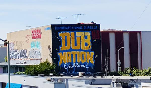Warriors Oakland Mural