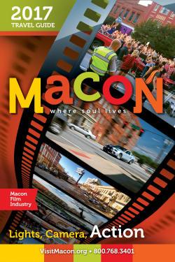 2017 Macon CVB Travel Guide Cover