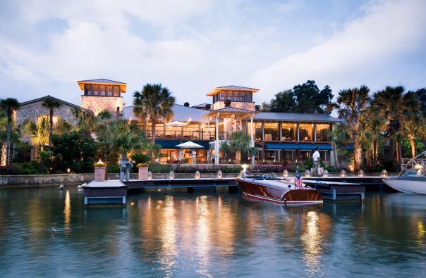 Horseshoe Bay Resort Yacht Club view from water