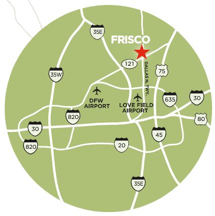 Frisco DFW Airport Map