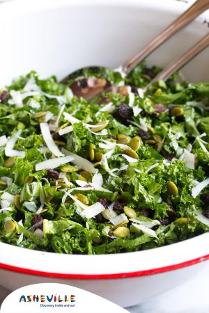 Manchego Kale Salad #Recipe   ExploreAsheville.com