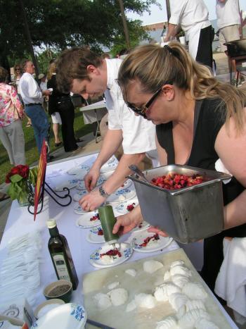 Del Porto chefs at A Taste of Covington March 31
