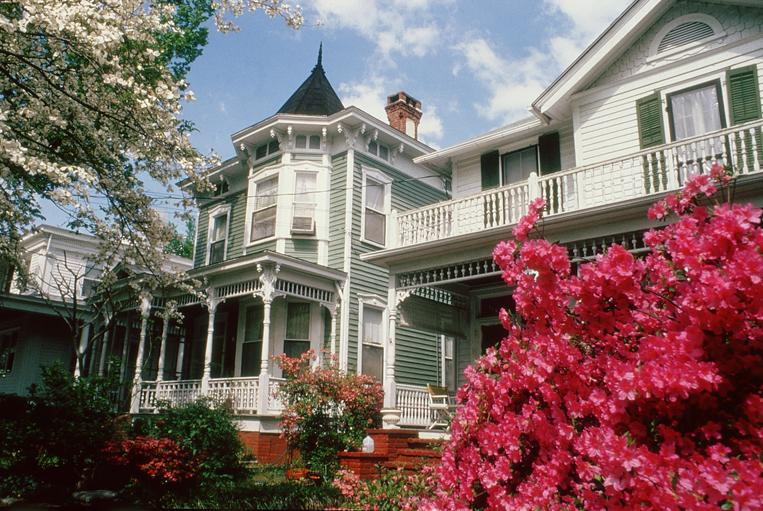 Historic homes in downtown Wilmington