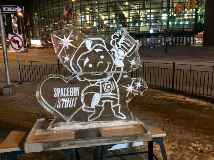 Valent-ICE 2016 Space Boy Ice Sculpture