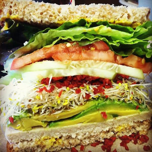 Vegan Soy Turkey Avocado Sandwich