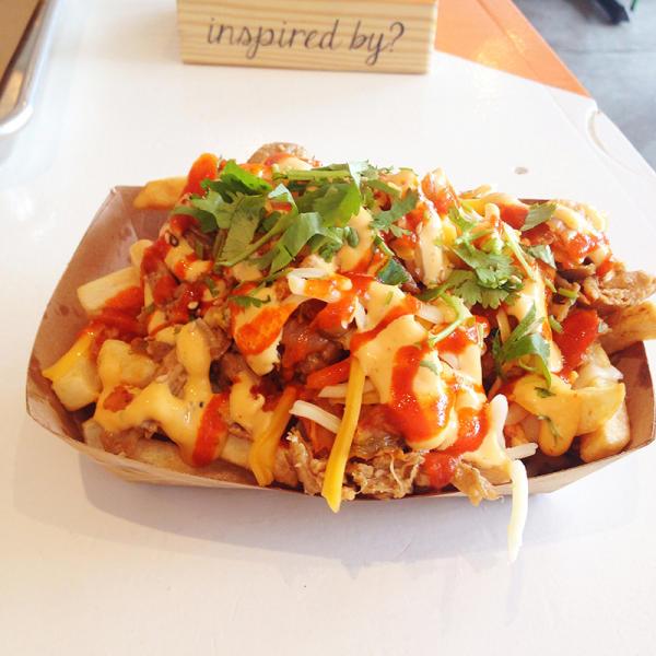 ChiLantro BBQ Kimchi Fries.