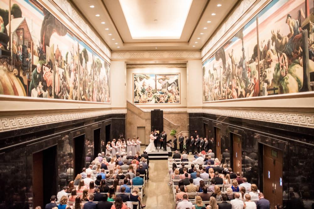 iu auditorium wedding