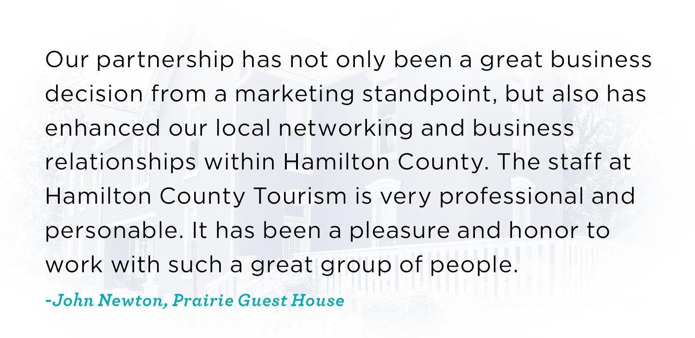 Prairie Guest House Testimonial