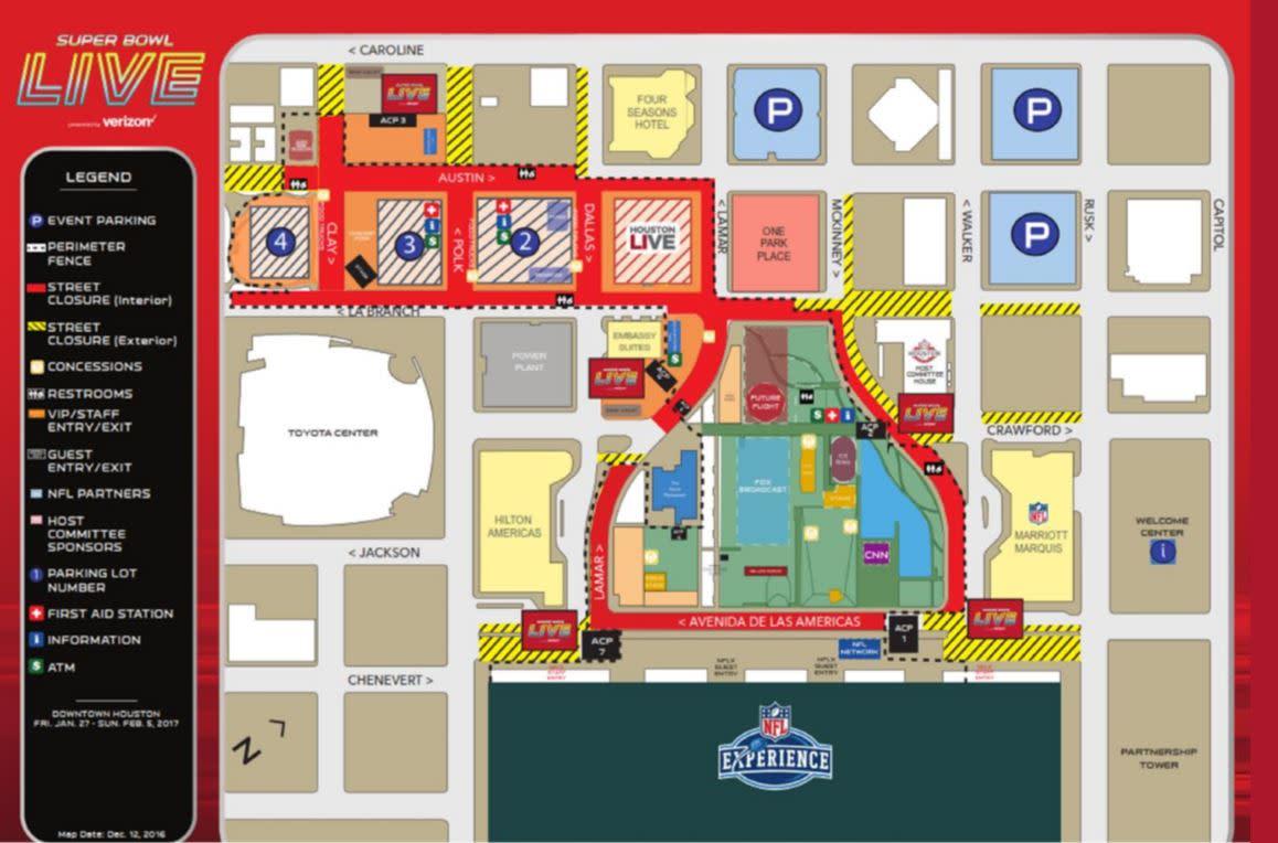Super Bowl LIVE layout