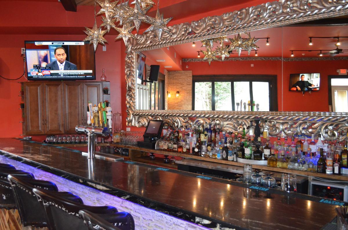 Mezcal Bar at Coyote Crossing Mexican Restaurant