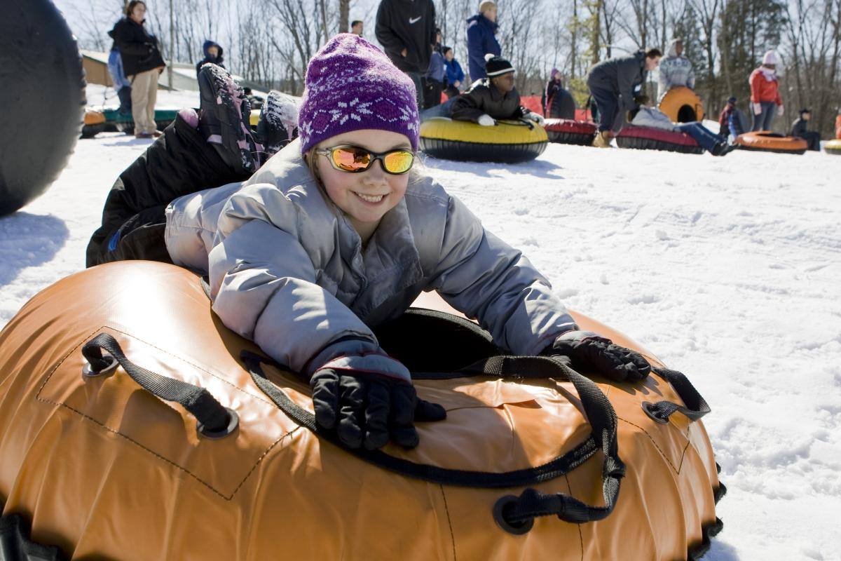 Snow Tubing Fun in the Pocono Mountains