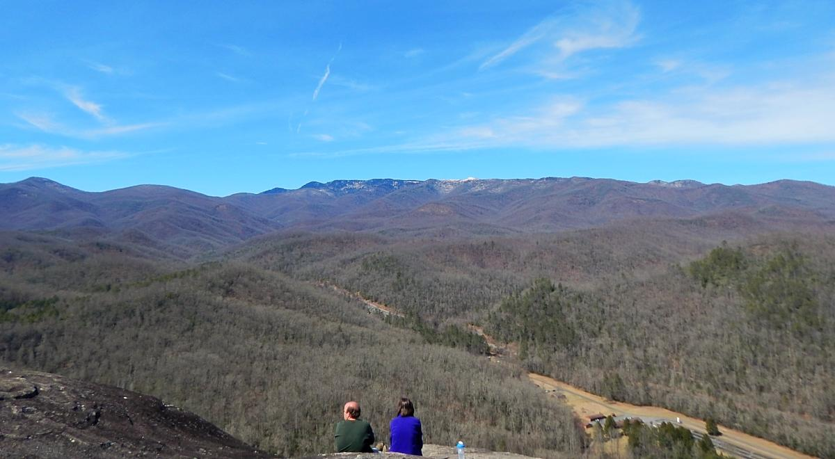 Winter View from the John Rock hiking trail near Asheville, N.C.