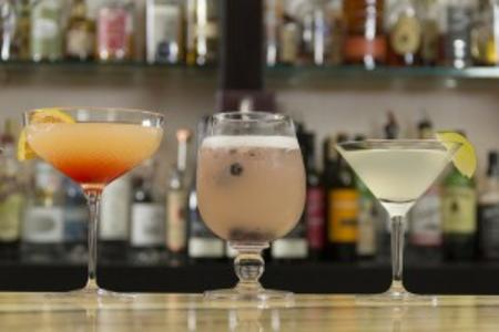 A Line of Cocktail Drinks