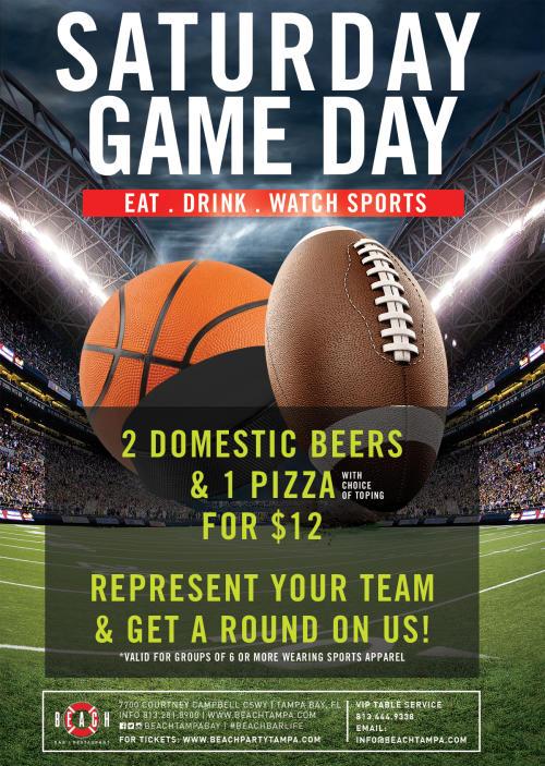 Saturday Game Day at Beach Bar | Restaurant