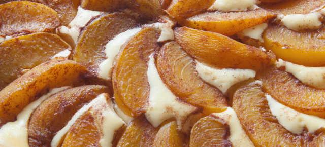 Peach Bavarian Torte