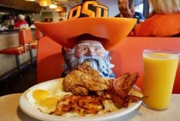 Travelocity Gnome Breakfast