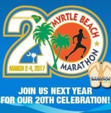 Myrtle Beach Marathon 20th Anniversary logo